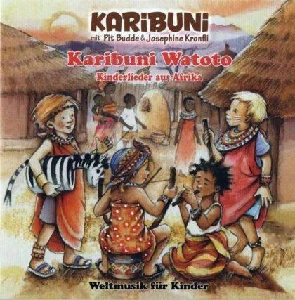 afrikanische Kinderlieder mit Liedtext im Booklet auf Deutsch und in der originalsprache.