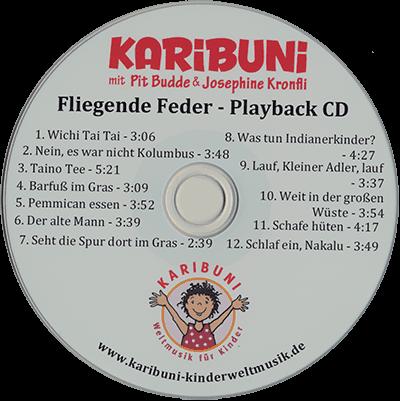 Fliegende Feder. Indianer Kinderlieder Playback-CD - Karaoke